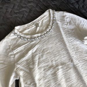 J.Crew bejeweled sweater